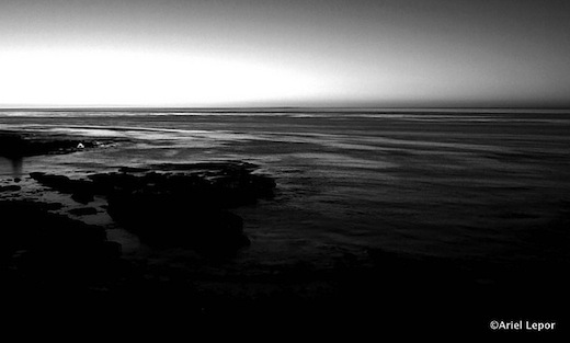 La Jolla Cove B&W at Dusk