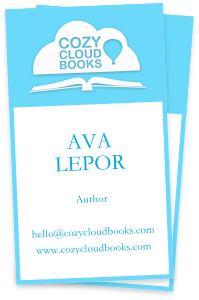 Cozy Cloud Books business card design