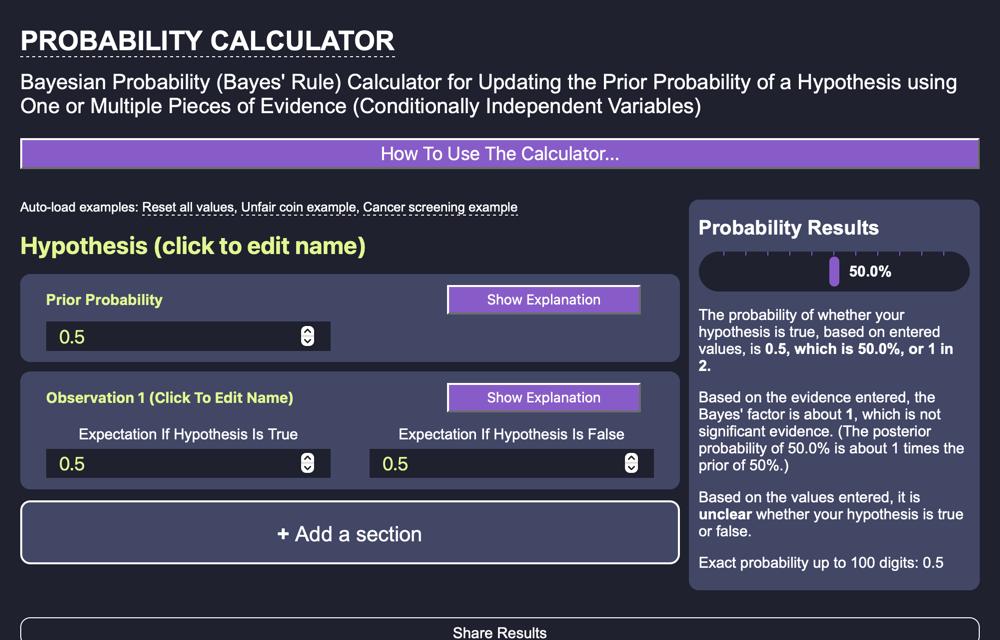 Bayesian Calculator