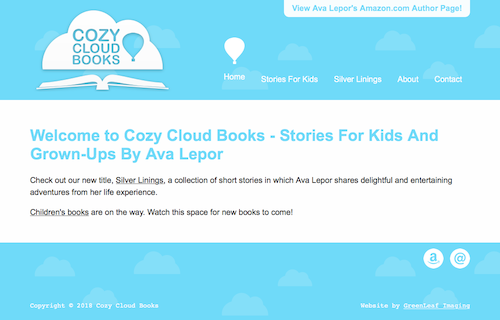 Cozy Cloud Books web design